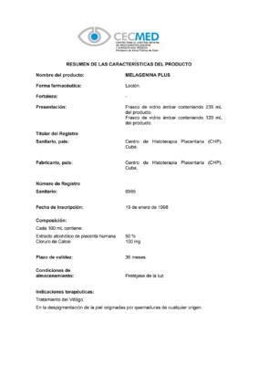 Сертификат Мелагенин Плюс стр. 1