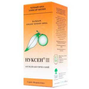 Купить Нуксен III черный орех (Антидиабетический эликсир)