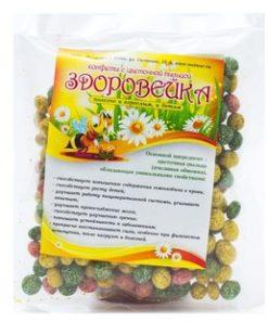 """Купить конфеты с цветочной пыльцой """"Здоровейка"""""""