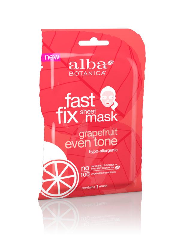 Купить Тканевая грейпфрутовая маска ALBA BOTANICA для выравнивания тона и цвета кожи