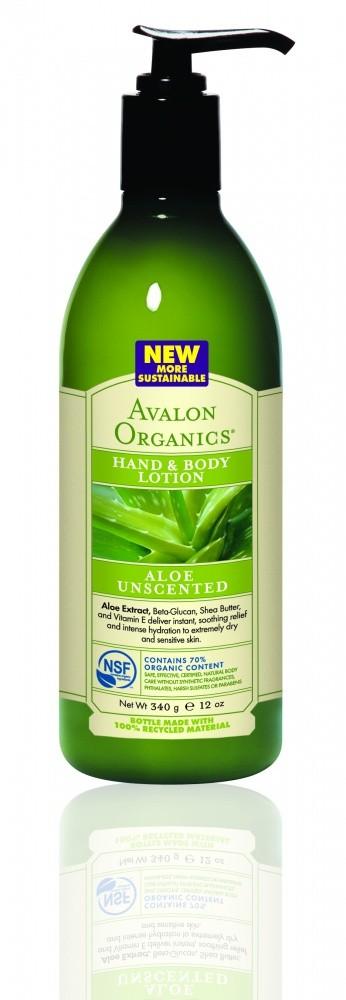 Купить Лосьон для рук и тела AVALON ORGANICS с соком алое вера, без запаха