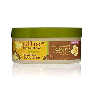 Купить Гавайский натуральный глубоко увлажняющий крем для тела ALBA BOTANICA с маслом кукуйи