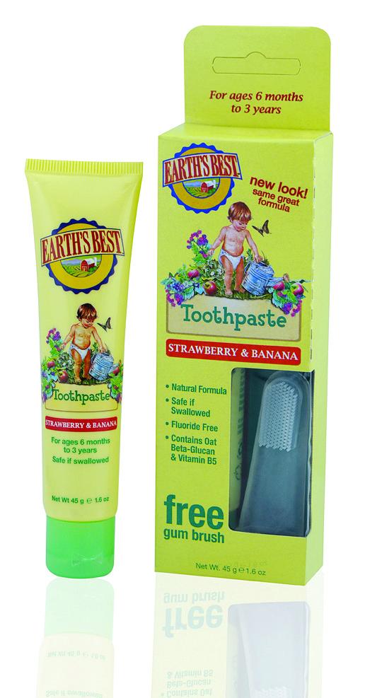 Купить Зубная паста EARTH'S BEST со вкусом Клубники и Банана