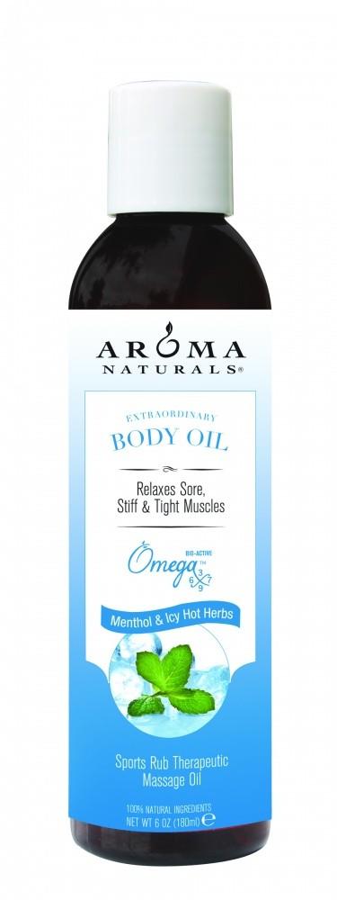 """Купить Терапевтическое массажное масло """"Ментол и травы"""" AROMA NATURALS для снятия воспаления и боли в мышцах"""