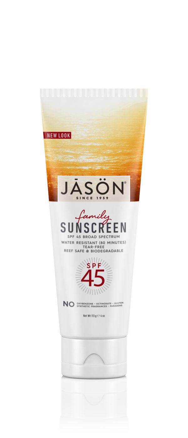 Купить Солнцезащитный крем JASON SPF-45 для всей семьи