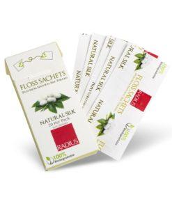 Купить Натуральная шелковая зубная нить без вкуса/TM RADIUS