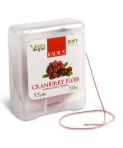 Купить Натуральная шелковая зубная нить со вкусом клюквы /TM RADIUS/ 50м