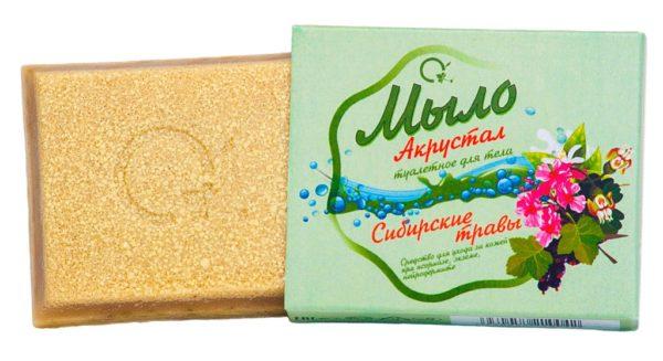 """Мыло """"Акрустал"""" для тела """"Сибирские травы"""" 100 гр."""