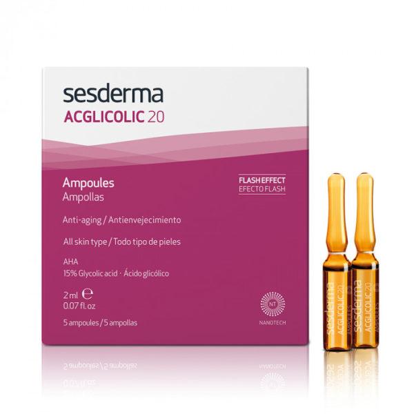 Средство в ампулах ACGLICOLIC 20 Sesderma на основе гликолевой кислоты для омоложения