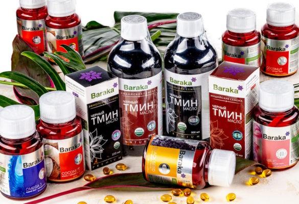 Масло черного тмина и другие продукты от компании Baraka