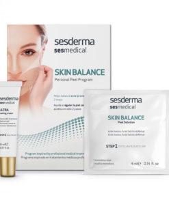 SESMEDICAL Skin balance персональная программа для восстановления баланса кожи, склонной к акне (салфетка-эксфолиант, крем запечатывающий), уп. 4 салф. + 15 мл
